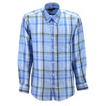 Une chemise Classique, Homme Photos Bleu de lin-type - Button-Down