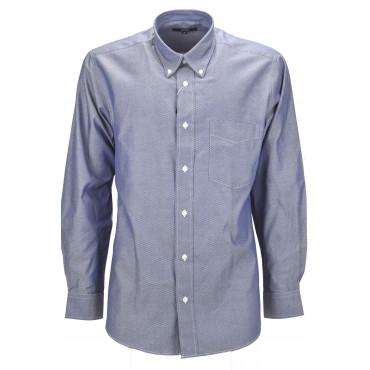 Une Chemise Classique, L'Homme Diamant Bleu Tissé - Button-Down
