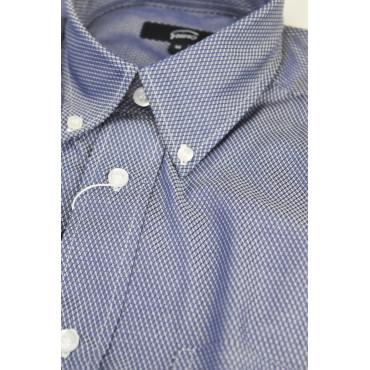 A Classic Shirt, Man Blue Diamond Woven - Button-Down