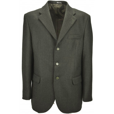 Men's Jacket 52 Dark Green Thorn Cloth Cashmere Wool 3Buttons Classic