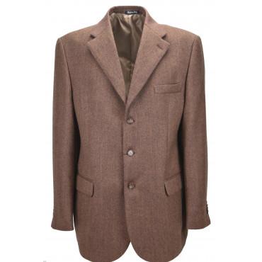 Chaqueta de hombre 56 Rust Spine Lana Cashmere Cloth Classic 3Buttons
