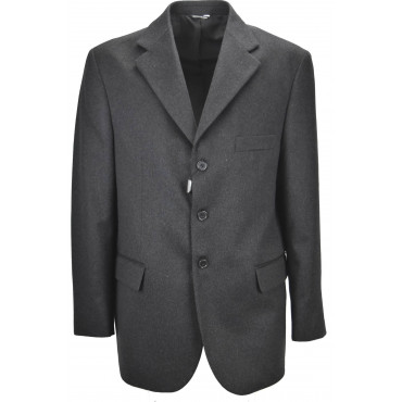 Classic Men's Jacket 54 Drop 4 Dark Gray 3 Button Cashmere Wool Cloth