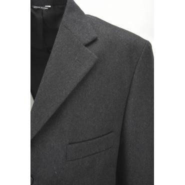 Classic Men's Jacket 54 Drop 4 Dark Gray 3 Button Cashmere Wool Cloth