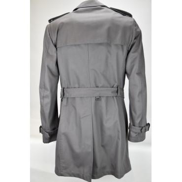Men's Raincoat 48 M Gray Bogart Model Lined Detachable Vest Impervela