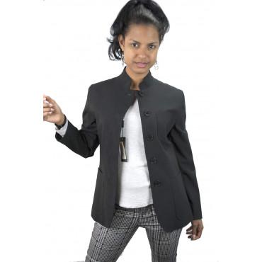 Short jacket Women stand up collar size 42 - Black Frescolana - No Brand Sample