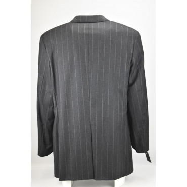Chaqueta larga para hombre 50 rayas gris clásico 4 botones pura lana