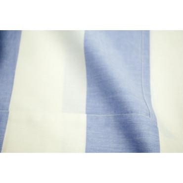 Des feuilles et Un Demi-Carré De 120 Lignes de Blanc bleu Vichy dans les Coins 120x200 7412