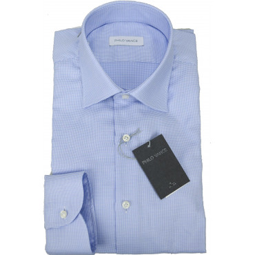 Man shirt Formal Heavenly Small-Patterned spread collar - Philo Vance - Belice