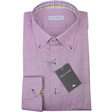 El Hombre De La Camisa Rosa De Oxford Gata Botón-Abajo - Philo Vance - La Pizarra