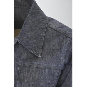 GIACCHETTO JEANS Uomo 50 L Casual Cotone Blu Scuro - No Brand Sample Abiti Uomo, Giacche e Giubbotti