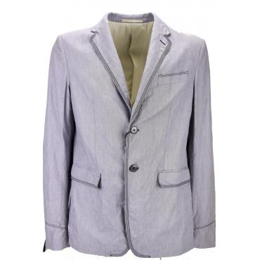 Mauro Grifoni Men's Jacket 50 L Purple Cotton Deconstructed 2Bottoni - Mauro Grifoni Suits, Jackets and blazers