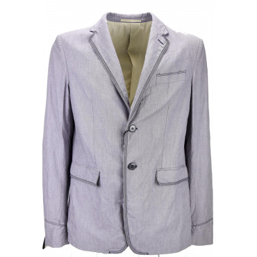 Mauro Grifoni Men's Jacket 50 L Purple Deconstructed Cotton 2Buttons - Mauro Grifoni Men's Suits, Blazers and Jackets