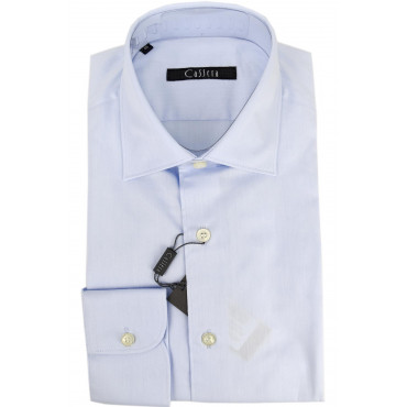 CASSERA Shirt Men, Classic and Heavenly Tintaunita cotton Twill spread Collar 40 41 43 46