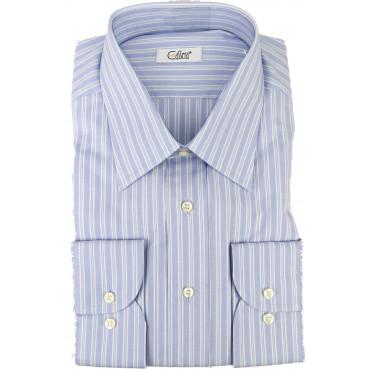 T-Shirt Mann Zeilen Im Himmel Weiß Oxford Hals Italien - Cassera