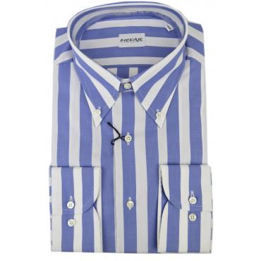 CASSERA Camicia Uomo 16½ 42 Righe Celeste Bianco Oxford Button Down