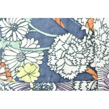 Edredón Acolchado Colcha de la Cama Azul y Blanco de flores 260x260 - Boutis acolchado para mejorar el Verano