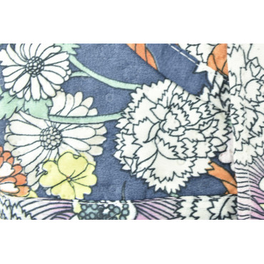 Quilt Quilted Bedspread Bed Blue and White Floral 260x260 - Boutis padding to enhance the Summer