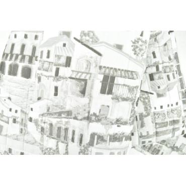 Couette couvre-lit Matelassé Lit Positano Noir-et-Blanc 260x260 - Boutis rembourrage pour améliorer l'Été