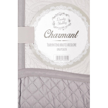Quilt Bedspread Single Quilted Two-Tone Pink Lilac Charmant