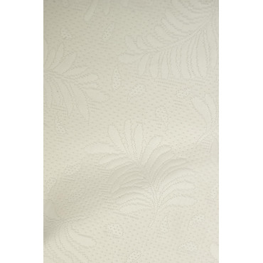 Bedspread, Single, Maxi Piquet Ivory Ramage Acanthus 180x290