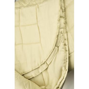 Copriletto Trapuntato Matrimoniale Raso di Cotone Giallo Tintaunita 260x270