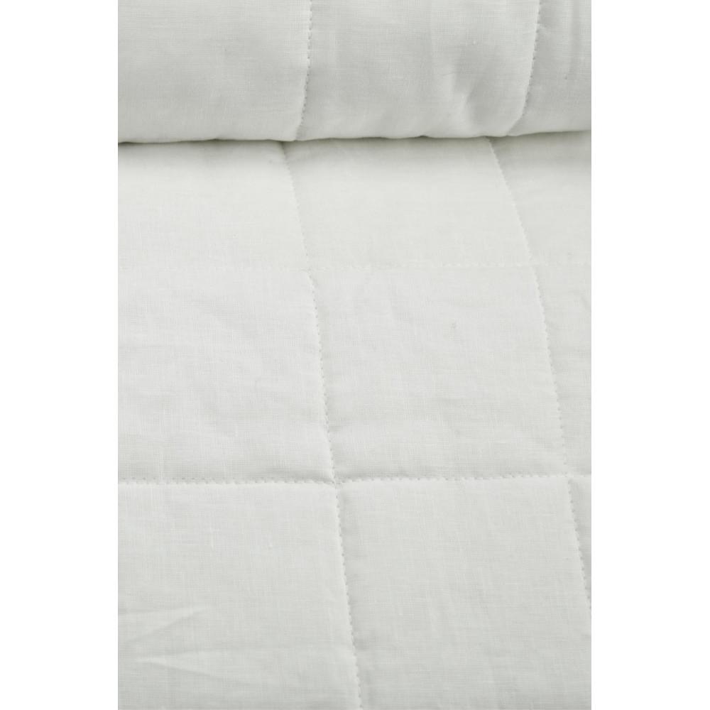 couvre lit matelass double blanc pur lin tintaunita 260x290. Black Bedroom Furniture Sets. Home Design Ideas