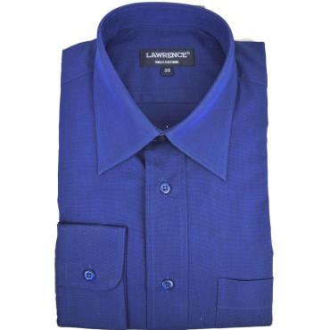Man Shirt Classic 42 Blue Ink FilaFil Neck Italian