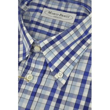 Camisa de Sastrería Hombre, Botón de Abajo 16½ 42 Plazas de color Azul Celeste