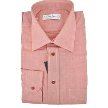 Camicia Sartoriale Uomo 16 41 Rosso Corallo FilaFil Collo Francese