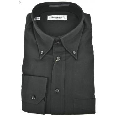 Camicia Sartoriale Uomo Nero Lavagna Twill Button Down