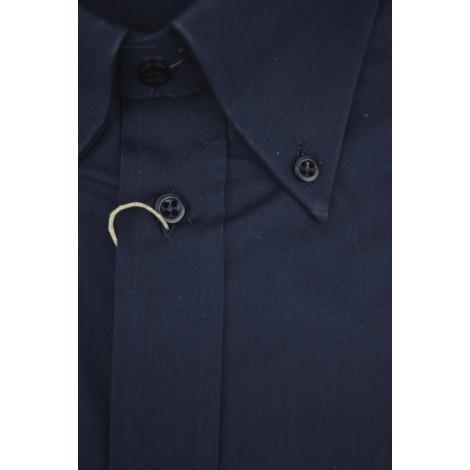 Made To Measure Shirt Man, Popeline Dark Blue Button Down