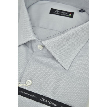 Man shirt Tailored Grey Woven spread collar