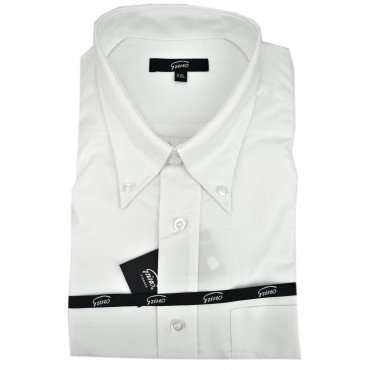 Man Shirt Classic White Oxford Button-Down Collar