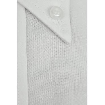 Man Shirt Classic White Oxford Button-Down Collar