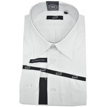 Homme Shirt Blanc Classique Oxford Col De L'Italie