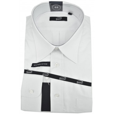 Man Shirt Classic White Oxford Collar Italy