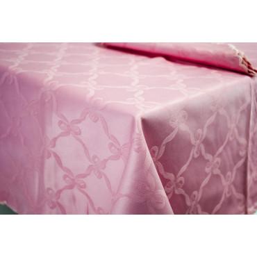 Rectangular Tablecloth x12 Light Blue Flanders Fiocchino 270x180 +12 Napkins ref. scallop 8014