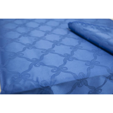 Nappe Rectangulaire x12 bleu clair Flandre Arc 270x180 +12 Serviettes de table réf. rebrodé 8014