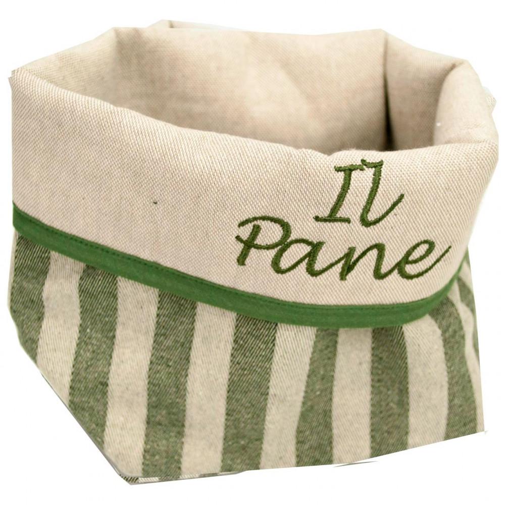 Cestino a Sacco per il Pane in Tessuto La Toscana