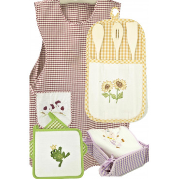 Textile accessories, Country Kitchen with Embroidery
