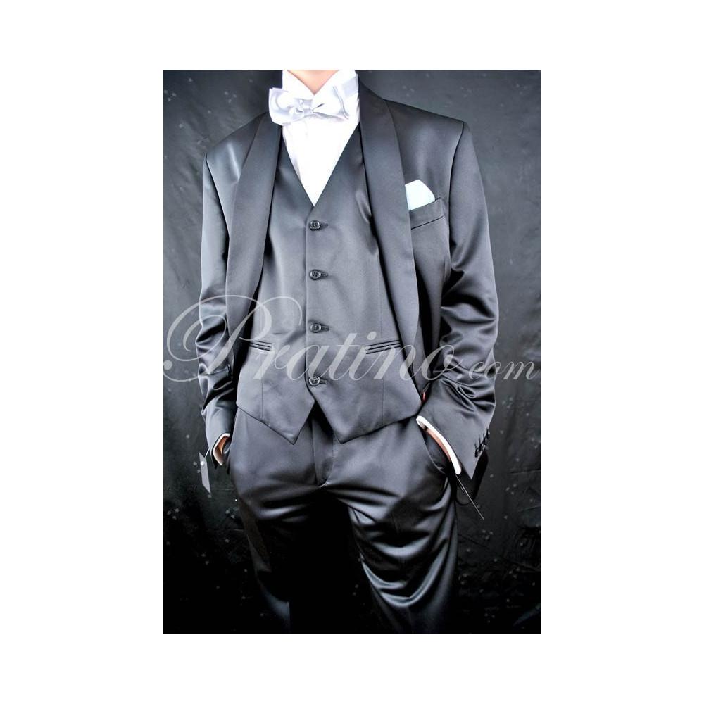 3012 Abito Uomo Smoking  52 Nero Lucido Elegante Cerimonia Sera +Gilet -  Abiti Uomo, Giacche e Giubbotti