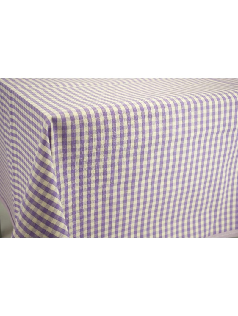 Fabric by Meter Squares Country Yellow Violet Blue Ecru - H180 Pure Cotton