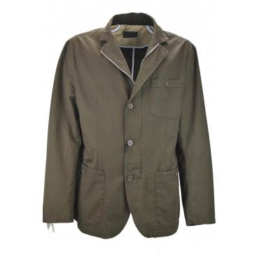 Jacket Casual Men's Pure Cotton Brown Tintaunita 3Bottoni