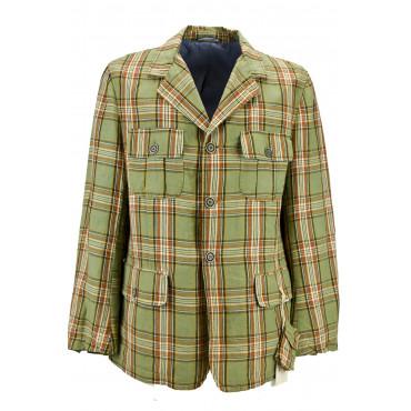 Mens jacket Vintage Look, Pure Cotton Beige Tintaunita 3Bottoni