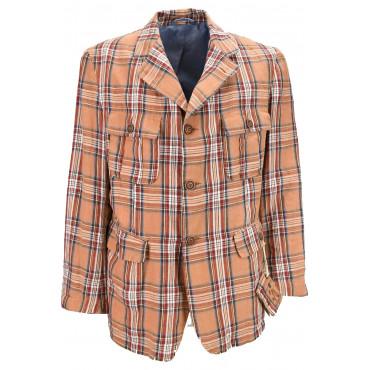 Jacket Man Look Creative Orange Paintings Scottish Pure Cotton