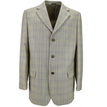 Men's Beige Scottish Frescolana Jacket 3 Buttons - Classic Fit