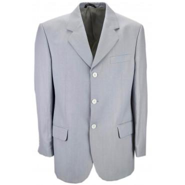 Light Blue Flamed Linen Man Jacket 3 Buttons - ing. Loro Piana