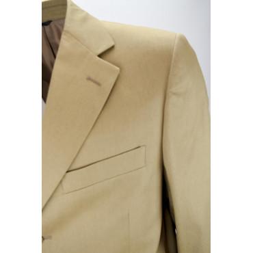 Frescolana Beige Flamed Man Jacket 3 Buttons - ing. Loro Piana