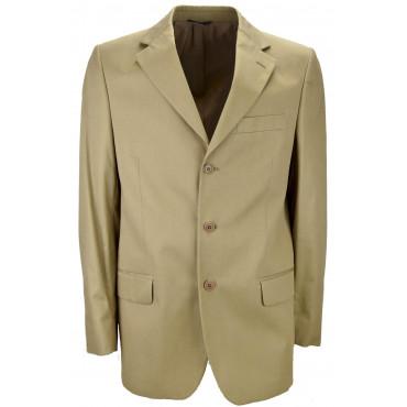 Jacket Man Frescolana Beige Slub 3 Button placket - ing. Loro Piana