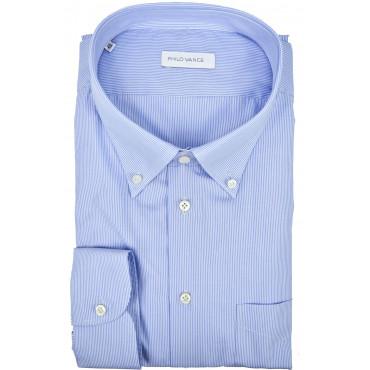 Camicia Uomo Formale Blu Scuro Tintaunita collo Francese - Philo Vance - Azzorre
